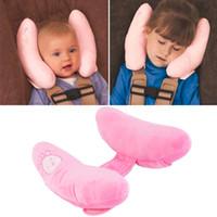 cojín del cuello del bebé al por mayor-Almohada del resto del cuello de la cabeza del amortiguador del coche para el coche / el cochecillo de bebé, cubiertas cómodas de asiento del cuello del reposacabezas, para la protección de los niños de los niños