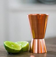 Wholesale Antique Cup Plate - Copper Shot Glasses - 100% Pure Copper Jiggers, wine shaker cup,stainless steel pint cup with copper plating