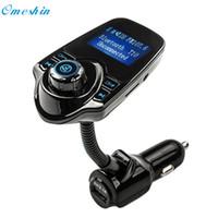 Wholesale Bluetooth Handsfree Watch - Wholesale- Adroit New Car Kit Handsfree Wireless Bluetooth FM Transmitter MP3 Player USB LCD Modulator 10S61103 drop shipping