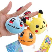 Wholesale Pikachu Ornament - Wholesale Hot Pikachu Squirtle Snorlax Poke plush toy accessories ornament decorations cellphone mobile phone decorations Christmas gift