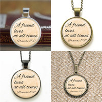 Wholesale friendship bracelet links online - 10pcs Friendship a friend loves at all time Necklace keyring bookmark cufflink earring bracelet