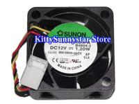 Wholesale 4cm Fan - New Original 4cm KD1204PKBX-A B4604-3 12V 1.2W 3Wire 800-26046-03 sunon Fan,KD1204PKV2 12V 0.8W 3Wire dc fan