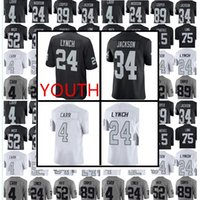 Young Men Oakland Raider 24 Marshawn Lynch 4 Derek Carr 34 Jackson 52 Mack 89 Cooper 75 Long 15Crabtree Vapor Untouchable Limited Maglie