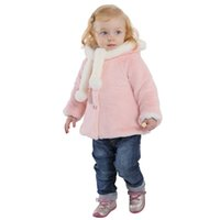 Wholesale IDGIRL Baby Girl Jacket Coat Outwear Thicken cotton Warm Colors Hooded Soild Romper Baby Kids Clothing