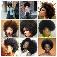 kısa insan saçı örgüleri toptan satış-8a Brezilyalı Remy Afro Kinky Bakire Saç 3 adet Brezilyalı Kısa Doğal Siyah Kinky Kıvırcık Afro Curl İnsan Saç Dokuma 8