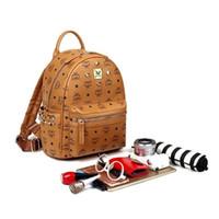 Wholesale Korean Girl Backpack Handbag - 2017 MCHY&TYF Korean Stark Backpack bag Bags bookbag ladies handbags on sale Student rivet clinch clinch bolt Women bookbags