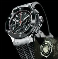 Wholesale Ivory Hand - New automatic mechanical movement Deluxe multi-function luxury automatic men big bang wristwatch sweeping motion watches black rubber hu