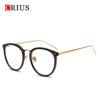 Wholesale Eyewear Glasses Nose - Wholesale- CRIUS 2017 new Brand design Metal nose pads women's optical glasses frame women glasses eyewear vintage eyeglasses high quality