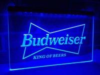 Wholesale Led Budweiser Signs - LE009b- Budweiser King Beer Bar Pub Club LED Neon Light Sign