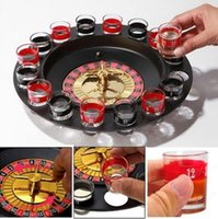 Wholesale Gambling Sets - Russia Lucky Shot Drinking Glass Adult Bar Game Roulette Casino Style Gambling Party Set Board Game OOA3277