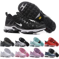 Wholesale Cheap Plus Size Shoes - 2017 Men Women Casual Shoes Air Cushion TN Plus Cheap Training Shoes Original High Quality Outdoor Running Shoes Free Shipping Size 5.5-1