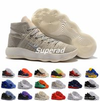 Wholesale Sport Rubber Ball - New Mens Basketball Shoes Sneakers React Hyperdunk 2017 High Quality Mesh Basket Ball Trainer Shoe Sport 18 Colors Size 7-12
