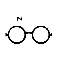 Wholesale Decals For Glass Doors - 17.7*11.4CM Stylish Harry Potter Glasses For Car Stickers Interesting Motorcycle Vinyl Decals