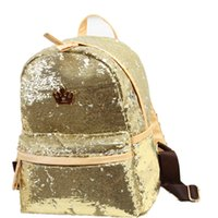 Wholesale Bookbags Women - Wholesale- 2017 Fashion Cute Girls Sequins Backpack Womens Paillette Leisure Popular School BookBags Free Shipping Top Quality P110