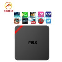 1 PCS Mini M9S Boîtes Android Amlogic S905X Quad Core IPTV 1 Go / 8 Go OTT TV Box 3D Smart 4K media et Game Player