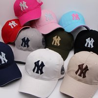 Wholesale 10 Color Yankees Hip Hop Baseball Caps NY Hats MLB Unisex Sports New York Adjustable Bone Women casquette Men Casual headware