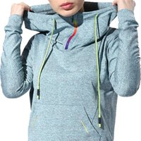 Wholesale Excercise Woman - Long Sleeve Women Sport Hoodies Autumn Fitness Gym Running T-shirt Sportswear Sweatshirts Excercise Jersey Shirts Hooded Tops