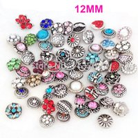 Wholesale ginger mix - STARLISH Brand Mix 50pcs set different styles snap jewelry ginger snap button charm fit 12MM snaps leather bracelet for women