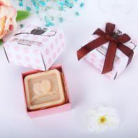 hibou baby shower cotillons achat en gros de-Hibou toujours vous aime savon parfumé Baby Shower Party Wedding Favors cadeaux fournitures DHL livraison gratuite