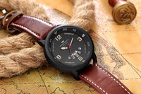 Wholesale Leather Belt Name Brands - wholesale 2017 new London style mens business watches famous brand name week date leather straps men quartz wrist watch Europe man clock