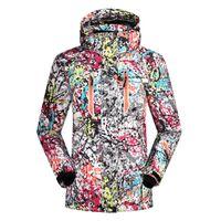 Wholesale Snowboard Jacket Down - Wholesale- SAENSHING 2016 ski jacket women winter snow waterproof windproof snowboard down coat graffiti print female jackets girl clothes