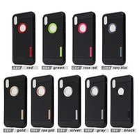 Wholesale Iphone Cases Fiber - Carber Fiber Cover Armor TPU Case For iphone X 7 8 PLUS for galaxy note 8 S8 plus J7 PRO J5 PRO