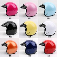Wholesale Helm Scooter - Free Shipping Promotion P#108 Vintage Cycling Moto Helm Open Face Casque Scooter Casco Motorcycle Helmet With Glasses Adult Summer Helmet