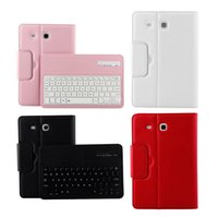 Wholesale bluetooth keyboard galaxy - For Samsung GALAXY Tab E 9.6 T560 T561 Magnetic Removable Wireless Bluetooth Keyboard Portfolio Folio PU Leather Case Cover