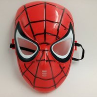 Wholesale Child S Mask - Red Black Classic Cartoon Spider-Man Mask Full Face For Children Humor Games Film Mask Anti-stress Hot Sale Brand New