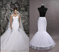 Wholesale Inside Dress - 2016 Hot sale in stock white mermaid wedding dresses inside petticoat high quality underwear for evening prom gowns