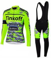 Wholesale Saxo Bank Long Sleeve - Tinkoff Saxo Bank Long Sleeve Cycling Jersey Set Sportwear Bicycle Clothing MTB bike maillot ropa ciclismo hombre cheap-clothes-china