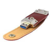 Barato Couro 8gb Usb-Venda por atacado- Venda Hot Quality USB3.0 8GB Business Leather Flash Drive Memory Stick U-Disk 18 de maio