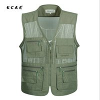 Wholesale Camera Man Vest - Wholesale- New Fly Vest Quality Clothes   Jackets Camera Waistcoat Mulit-pocket Clothes for Sea vest