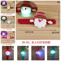 Wholesale Wholesale Slap Bands - LED Lighting Bracelet Slap Band Luminous Night Glow Wristband Christmas Decoration Party Props 8 Styles 1000pcs OOA3293