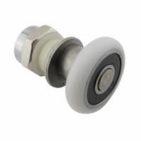 Wholesale pulley stainless - stainless steel eccentric wheel Shower room pulley bathroom shower sliding glass door roller household repari hardware part