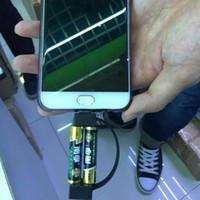 bateria portátil usb universal venda por atacado-2019 mais novo portátil mini cabo de carregamento usb emergência mínima 2A carregador de bateria para Samsung HTC Huawei Android