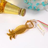neuheit bar lieferungen großhandel-Goldene Ananas Flaschenöffner Kreativer Entwurf Delicate Hochzeitsgeschenk Party Supplies Neuheit Wein Gadget Bar Tool 4 68sf F R