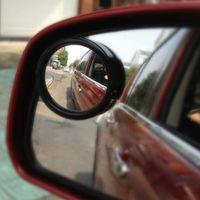 Wholesale plastic blinds - Newest 2 Pcs Universal Car Van Blind Spot Mirror Adjustable Driving Mirrors For Reversing Rear Black CEC_948