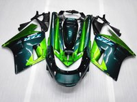 Wholesale Kawasaki 1992 - ABS Plastic Bodywork set For Kawasaki ZX11R ZZR1100 1992-2001 ZZR1100 92 93 94 95 96 97 98 99 00 01 02 blue green Aftermarket Fairing