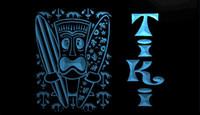 Wholesale surfing decor for sale - Group buy LS1637 b Surf Tiki Bar Mask Tree Decor Neon Light Sign jpg