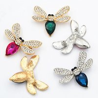 Wholesale Bee Brooches Pins - Stunning Crystals Cute Bee Brooch Hot Selling Big Waterdrop Glass Lovely Bee Pins Brooches Wedding Brooches For Women