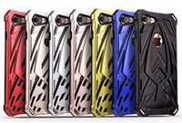 Shockproof Ironman Hard Plastic + Soft TPU Case pour Iphone 7 Plus 6 6S 6P 6Plus Silicone Luxe Hybride Clear 2in1 Gel Cell Phone Cover Skin