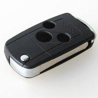 tapa remota modificada al por mayor-Nuevo reemplazo de la llave del coche en blanco 3 botones modificados flip plegable remoto clave shell FOB cubierta para Honda