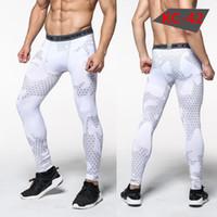 grüne leggings für männer großhandel-Kostenloser Versand Männer Compression Hosen Strumpfhosen Casual Bodybuilding Mans Hosen Marke Camouflage Armee Grün Dünne Leggings