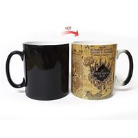 Wholesale Magic Cup Heat - Coffee Mugs Magic Hot Cold Heat Temperature Sensitive Color Changing Marauders Map Cup Heat Resisting Creative Gift 18yo C R