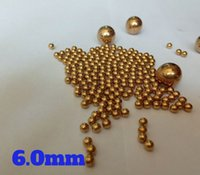 Wholesale furniture bearing - 6mm Solid Brass (H62) Bearing Balls For Industrial Pumps, Valves, Electronic Devices, Heating Units, Furniture Rails and Safety Switches
