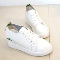 Wholesale Wholesalers Women Flat Shoes - Wholesale- HOT 2016 white women wedges shoes height Increasing autumn casual shoe women flats shoes vintage style womens flat shoes