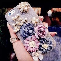 Wholesale Defender Silicone - Luxury Beatiful Stereo Flower Case Protection Fashion Girls Cover Defender Back Phone Cases For iPhone X 8 7 6 6S Plus