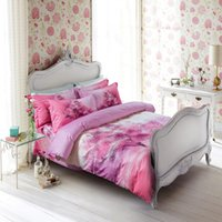 Wholesale Duvet Covers Cherry - 100% Cotton Bedding Sets Cherry Blossoms Tree Reactive Printing Duvet Cover Bed Sheet Pillowcases Bedclothes King Queen Size