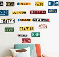 Wholesale Classic Licenses - Creative restoring ancient ways License plate decoration and letters Happy crafts new marriage room wall decoration Cartoon bamboo Televisio